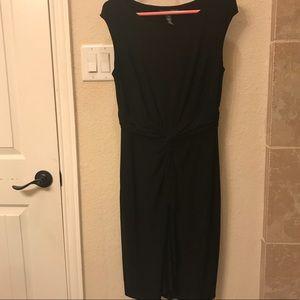 NWOT Lauren Ralph Lauren Tie-Front Black Dress